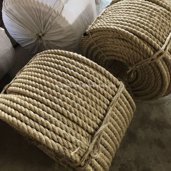 Factory Wholesale Twist 3/4 Strand Natural Manila/Sisal Jute Rope pictures & photos