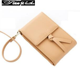 Guangzhou Wholesale OEM Mini PU Fashion Phone Bag Women Wallet Ladies Purse (J573)