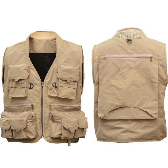 Men Outdoor Vest Work Uniform Hiking Camping Pedestrianism Fishing Vest