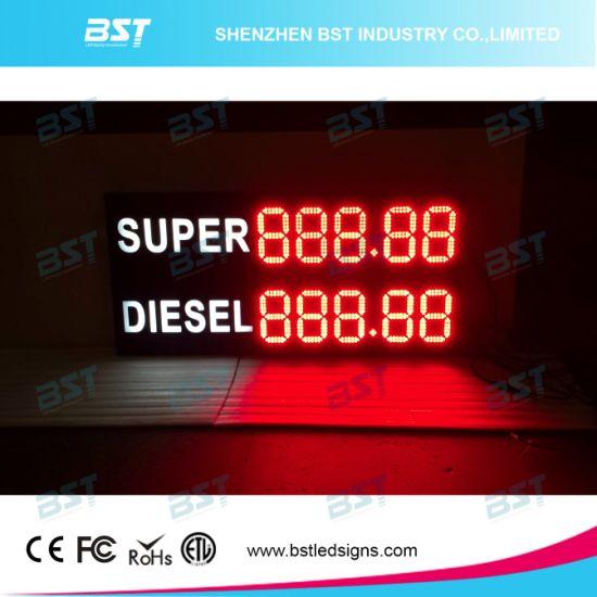 High Brightness Outdoor Waterproof LED Gas Price Sign Display