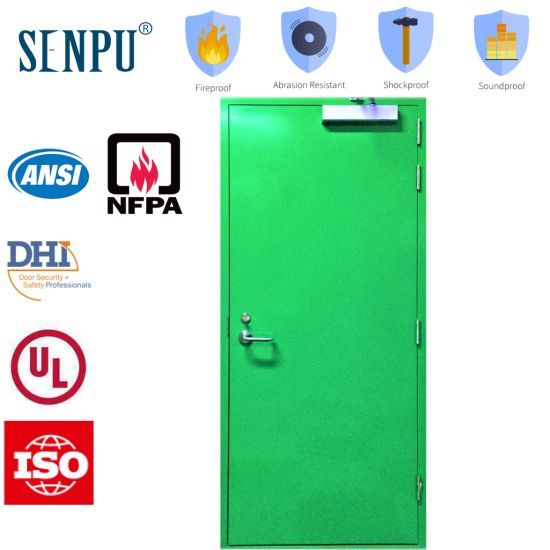 Overseas Market Fire Steel Single Door with Door Closer pictures & photos