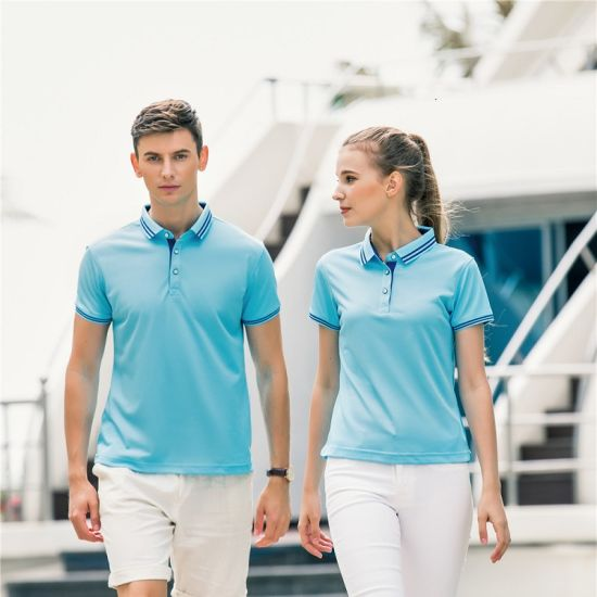 Custom Breathable Women/Men's Good Quality Fitting Short-Sleeve Polo T Shirt Clothing with Printing Fast Delivery