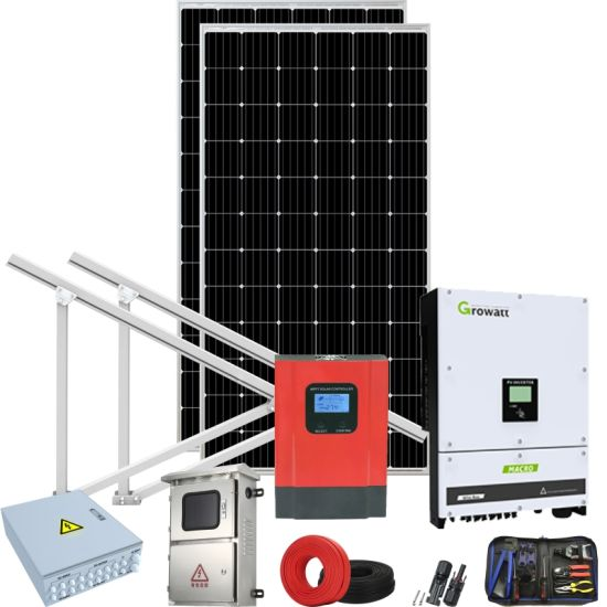 Heavy Duty Solar Systemhighest Power Solar Inverter System 100kwhindi Grid Tied Solar Power System