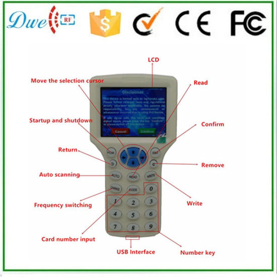 13.56MHz IC Copier with LCD Display Can Be Copy Encryption Mf Card