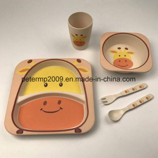 Eco Friendly 5 Pieces Kids Bamboo Fiber Dinnerware Set & China Eco Friendly 5 Pieces Kids Bamboo Fiber Dinnerware Set - China ...