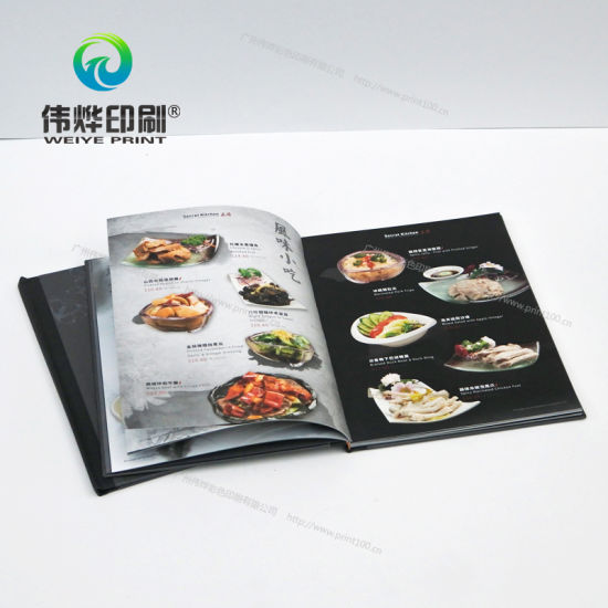 china oem odm custom restaurant menu brochure color printing