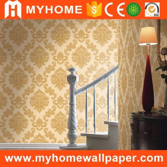 China Cheap Price Italian Damask Design Big Flower Wallpaper for ...