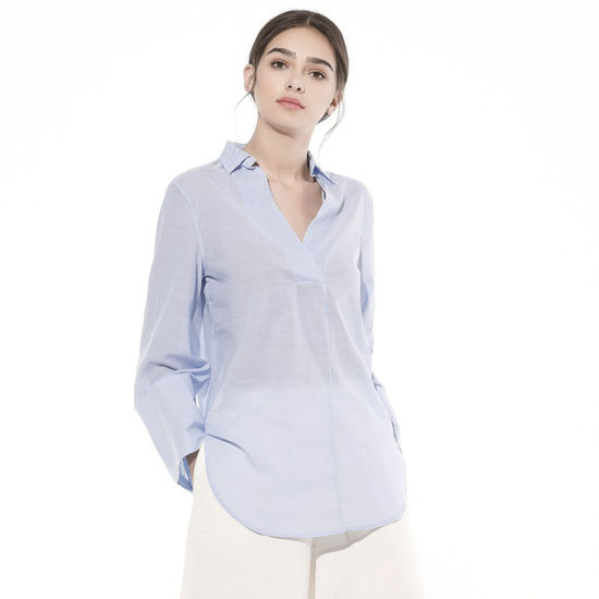 New Ladies Fashion Blouse Tops, Pure Color Good Fabric Leisure Apparel for Summer /Autumn