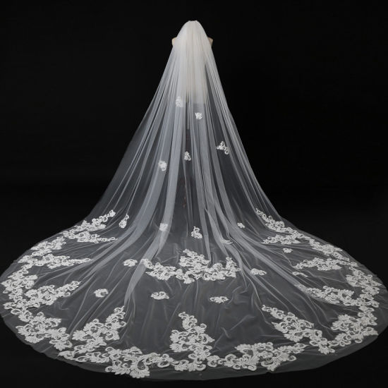 2019 New Hot Sale Lace Long Bridal Veil Wedding Accessories Ts5513