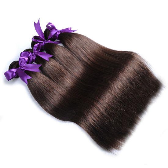 Brazilian Hair Weave Bundles Color 4 Light Brown Non Remy Human Hair  Extensions