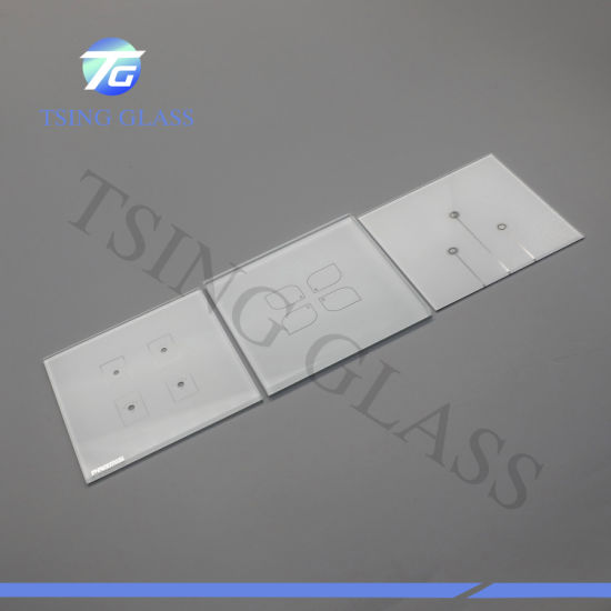 3-4mm Thickness Manufacture High Quality Customized Tempered Glass Switch Panel