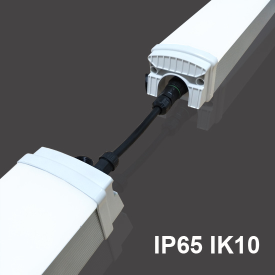 50W Linkable Connection Aluminous Housing LED Tri-Proof Light LED Batten Light for Food Processing Room