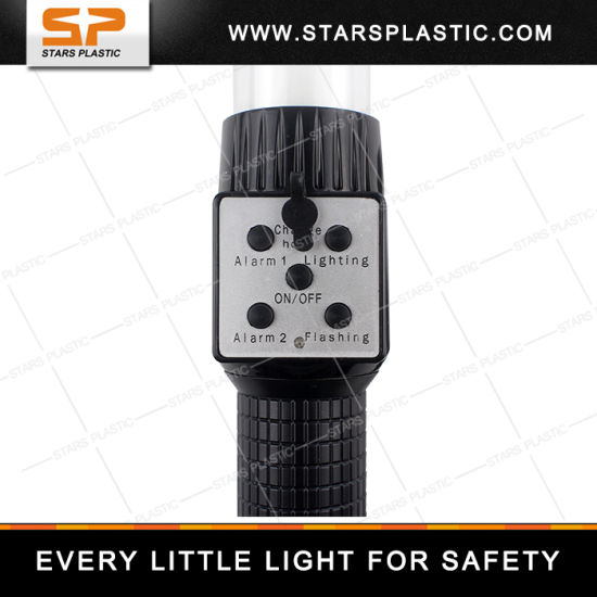 Traffic Safety Rechargeable Multifunctional Police Alarm Whistle Warning Flash LED Baton pictures & photos