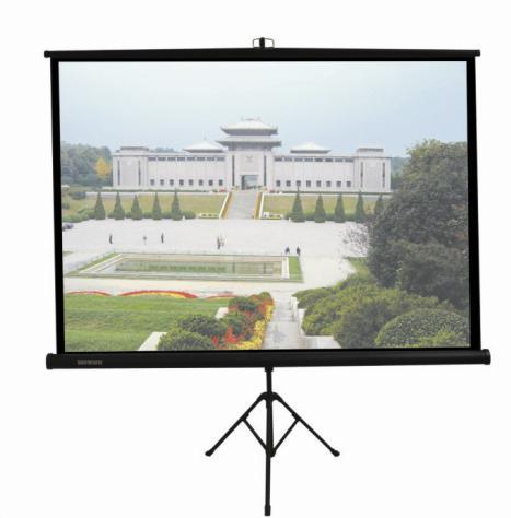 "70/""x70/"" 1:1 Portable Projector Screen HD Movies Projection Pull Up Stand Tripod"