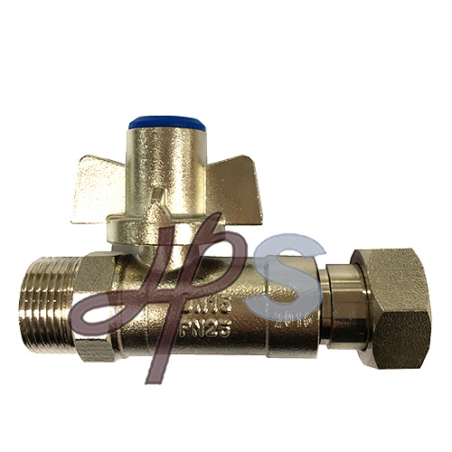 Plated Nickel Brass Lockable Ball Valve with Extension Pipe pictures & photos