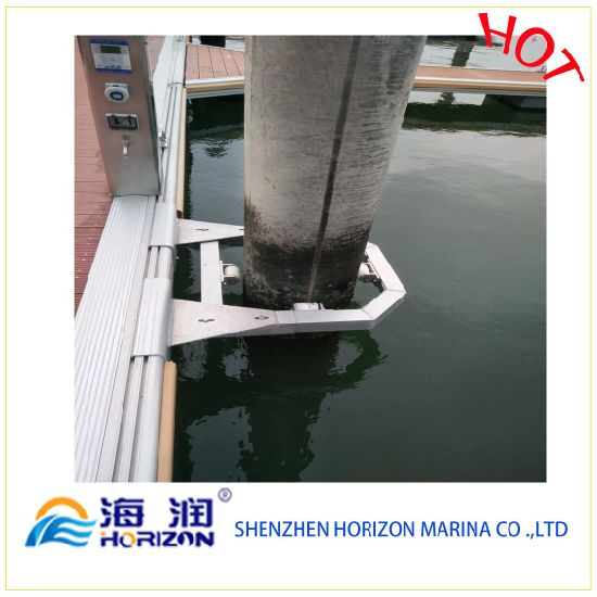 High Quality Aluminum Pile Holder for Marina/ Dock in China pictures & photos