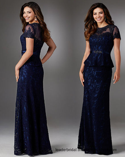 fcad613a1b19 Lace Formal Gowns Blue Celebrity Party Evening Dress Z514 pictures & photos