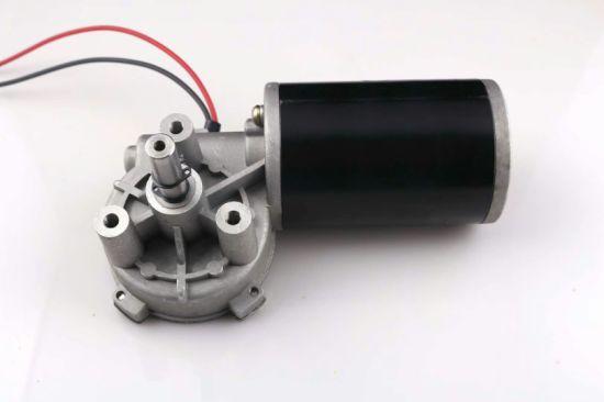 Diameter 63mm Worm Gear Motor DC 12V 24V for Wheel Chair
