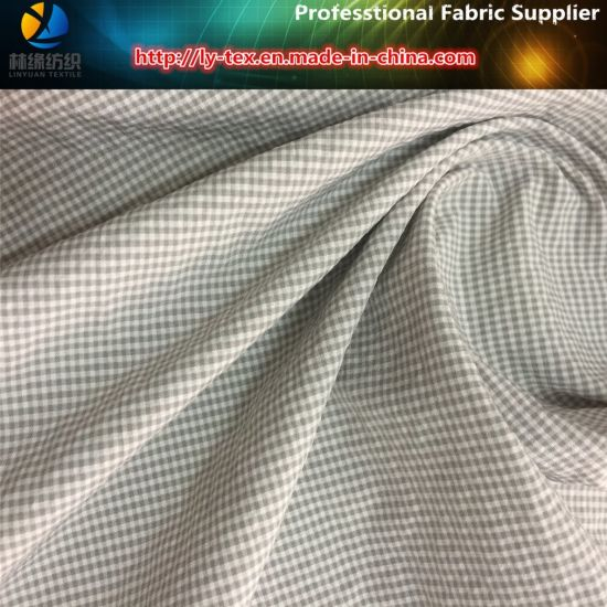 Polyester/Nylon Mixed Crincle Mini Check Shirt Fabric (YD1162-1)