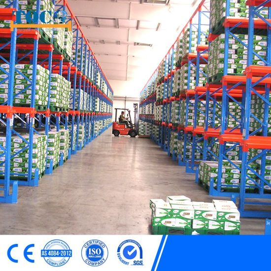 China Cold Storage Warehouse Radio Shuttle Pallet Racking