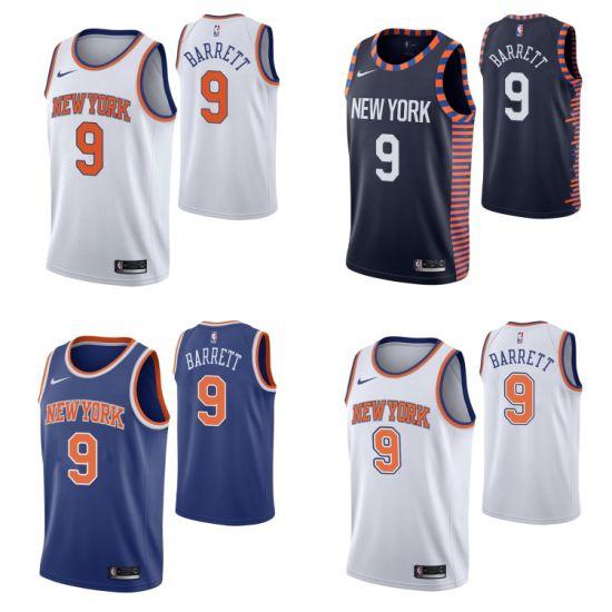 2019 N-B-a Draft New York Knicks 9 R. J. Barrett Basketball Jerseys