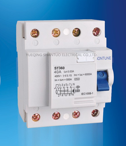 Sontune St360-40 4p Series RCCB Residual Current Circuit Breaker pictures & photos