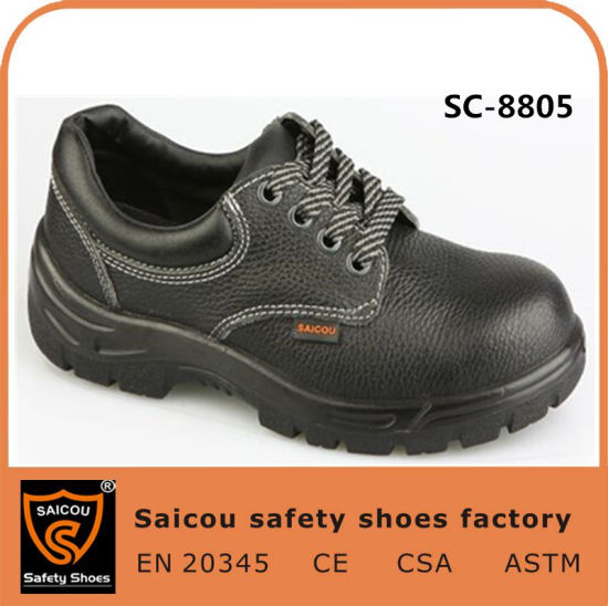 Guangzhou Double Density PU Breathable Leather Mens Steel Toe Safety Shoes (SC-8805)
