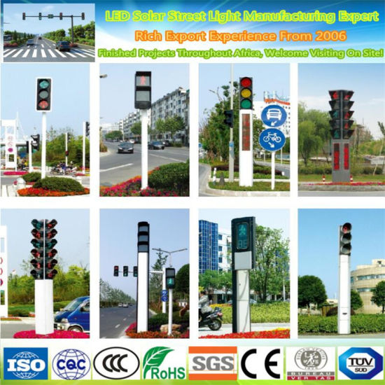 High Quality Hot Dipped Galvanized 5.5m Arm Traffic Light Pole