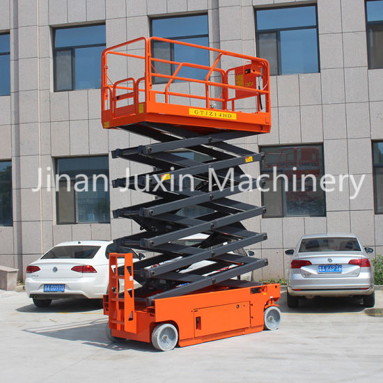 Hydraulic Mobile Electric Scissor Lift Table Self Propelled Scissor Platform Lift