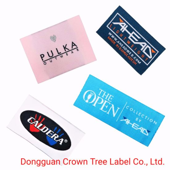Damask Customized Effect Woven Label End Fold for Neck Part with Soft Touch