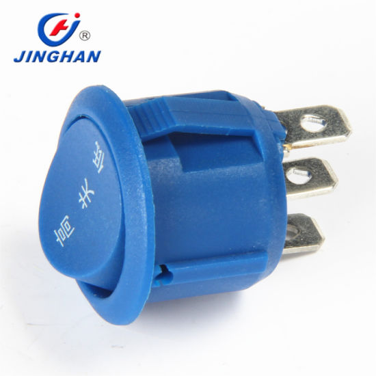 High Quality Mini 3 Way Round Rocker Switch on-off-on