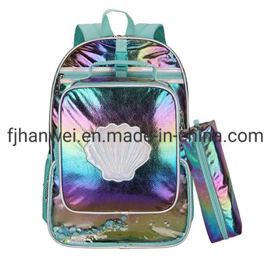 Popular Stylish 3 PCS Set PU Leather Girls School Bag