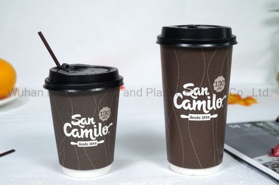 4oz-20oz Hot Coffee Cup Single /Double/ Ripple Wall Paper Cup in High Quality