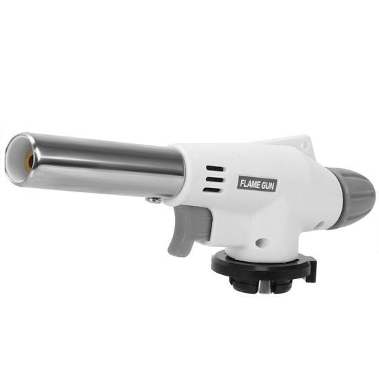 Portable Metal Flame Gun BBQ Heating Ignition Butane Camping Welding Gas Torch Lighters
