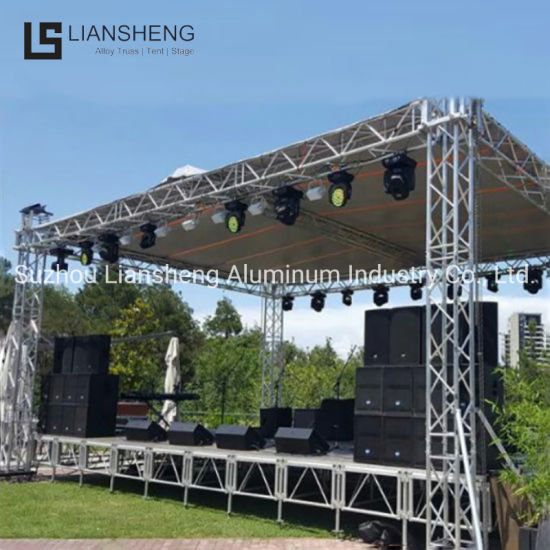 Portable Aluminum Stage Wooden Platform Mobile Truss Stage for Event