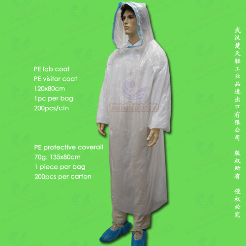 Disposable Polyethylene/Poly/PE Protective Coverall