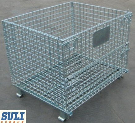 Industrial and Workshop Standard Storage Mesh Cage in Warehouse