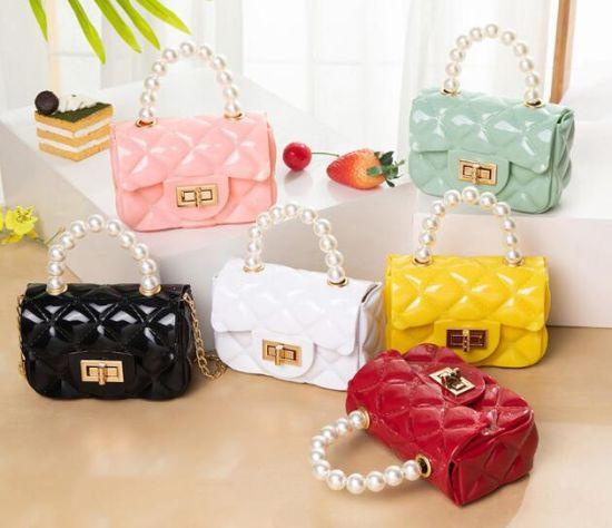 in Stock Fashion Mini Women Handbags with Pearls, Shoulder Chain Women Evening Bags