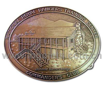 High Quality Copper Zinc Alloy Pewter Iron Belt Buckles (LJ003)