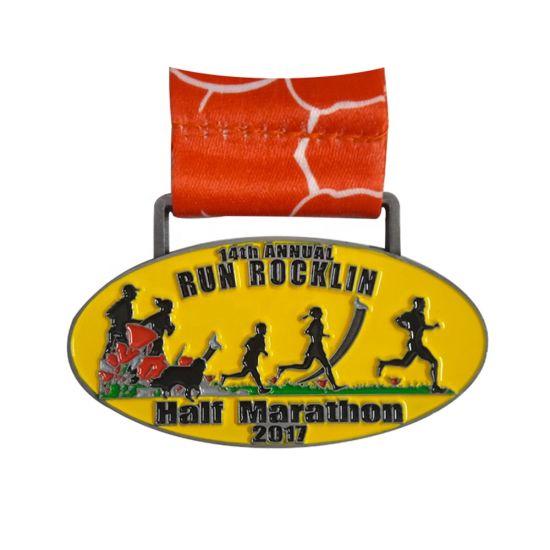 Marathon Finisher Running Sports Medal with Custom Logo