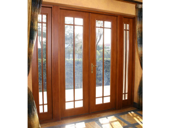 China Solid Oaklarch Wood Aluminum French Door China Composite