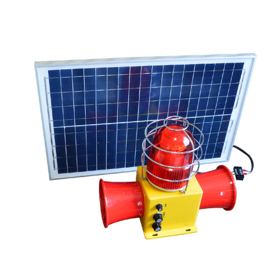 Industrial Electronic Buzzer Stsg-22t Integrated Rainproof Voice Sound and Light Alarm with Solar Panel