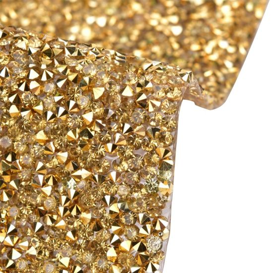 Hotfix Resin Crystal Beads Mesh for Garment Accessories