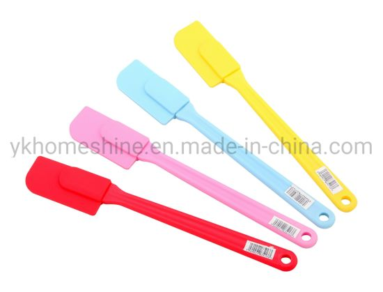 Heat Resistant Non-Stick Baking Utensils Silicone Spatula Set with Strong Stainless Steel Core