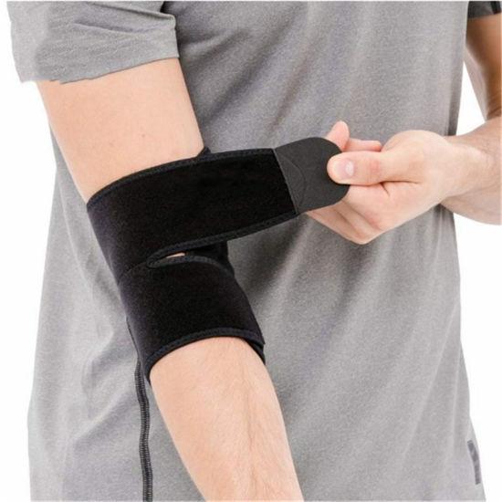 Factory Wholesale Black Breathable Tennis Compression Pad Elbow Brace