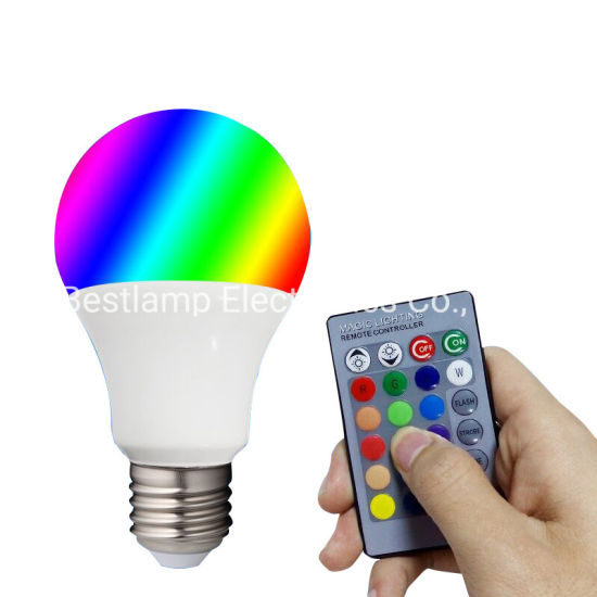 LED Bulb Light RGB Bulb with Remote Control LED Lamp