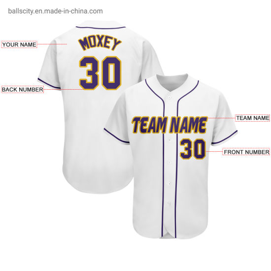 Cheap Custom Softball Wear Wholesale Sublimation Embroidered Baseball Shirts