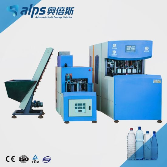 Advanced Semi Automatic 4 Cavities Drinking Water Soft Drink Beverage Plastic Bottle Mould Blowing Machine / Pet Blow Molding Making Equipment