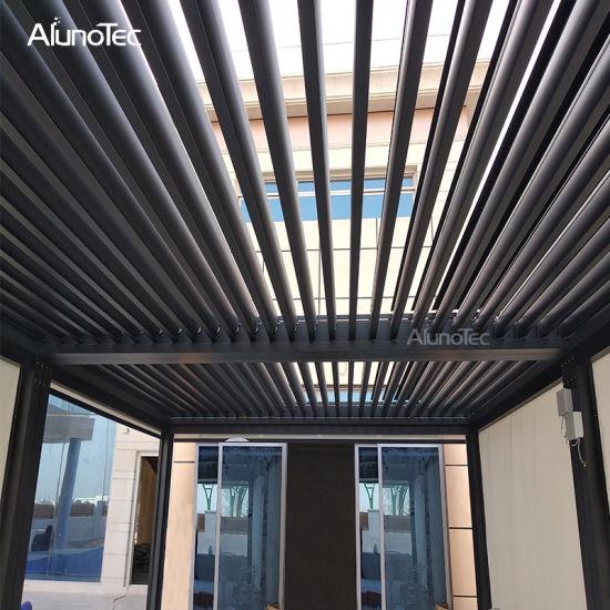 China Pergola Aluminum Patio Roof Design Waterproof Outdoor Blinds China Aluminum Pergola Design Waterproof Outdoor Blinds