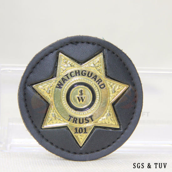 BSCI Direct Factory Professional Custom Brass Wallet Police Pin Badge